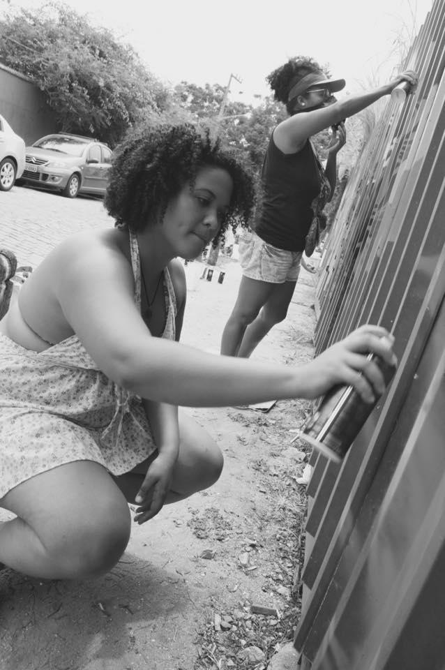 Viviane Laprovita na atividade. Foto:  Panmela Castro