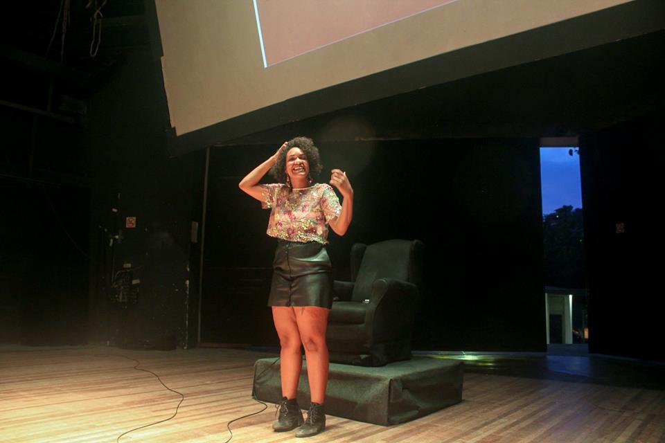 Taisa Machado contando a sua história