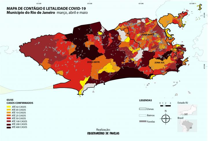 Mapa 1.3 – Disseminação COVID 19 no município do Rio de Janeiro